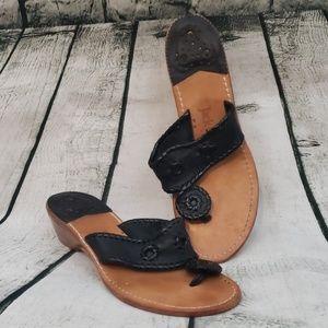 Jack Roger's black wedge sandal